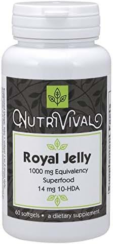 Nutrivival Royal Jelly 1000mg,60 Softgels