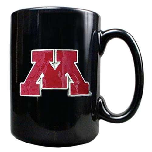 Minnesota Golden Gophers 15oz Black Ceramic Mug
