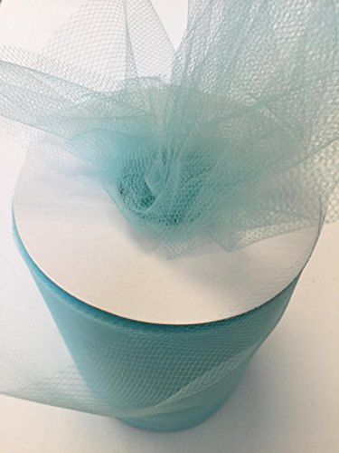 Tulle Fabric Spool/Roll 6 inch x 100 yards (300 feet), 34 Colors Available, On Sale Now! (aqua)