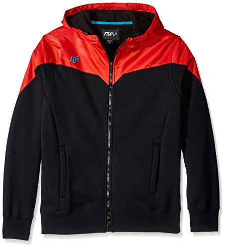 Fox Men's Krono Sherpa Zip Fleece Sweatshirt, Black, Medium