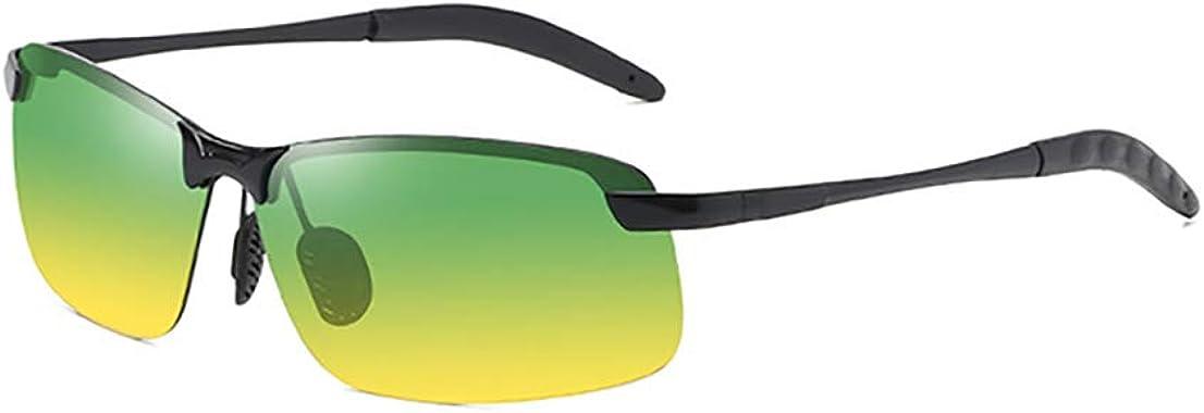 Cpanda HD Day Night Driving Glasses Fit Over Sunglasses for Men & Women,Sports Sunglasses - Photochromic Anti Glare Polarized (yellow)