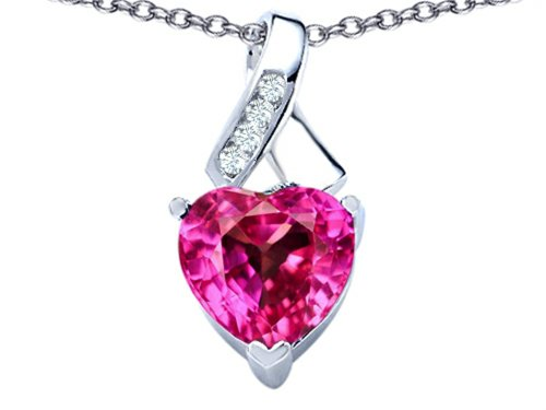 Star K Sterling Silver 8mm Heart Shape Ribbon Pendant Necklace
