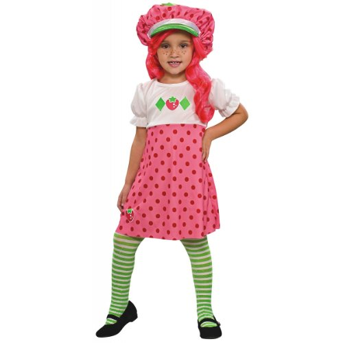 Strawberry Shortcake Costume, Toddler (Girls Blueberry Muffin Wig)