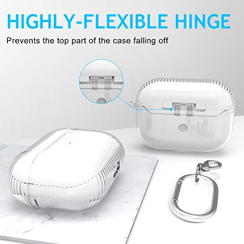 AirPods Pro Case, Facbiny Transparent TPU Cover for AirPods 3 [2019] Airbag Protection and Hingeless Shockproof Scratch-Resistant