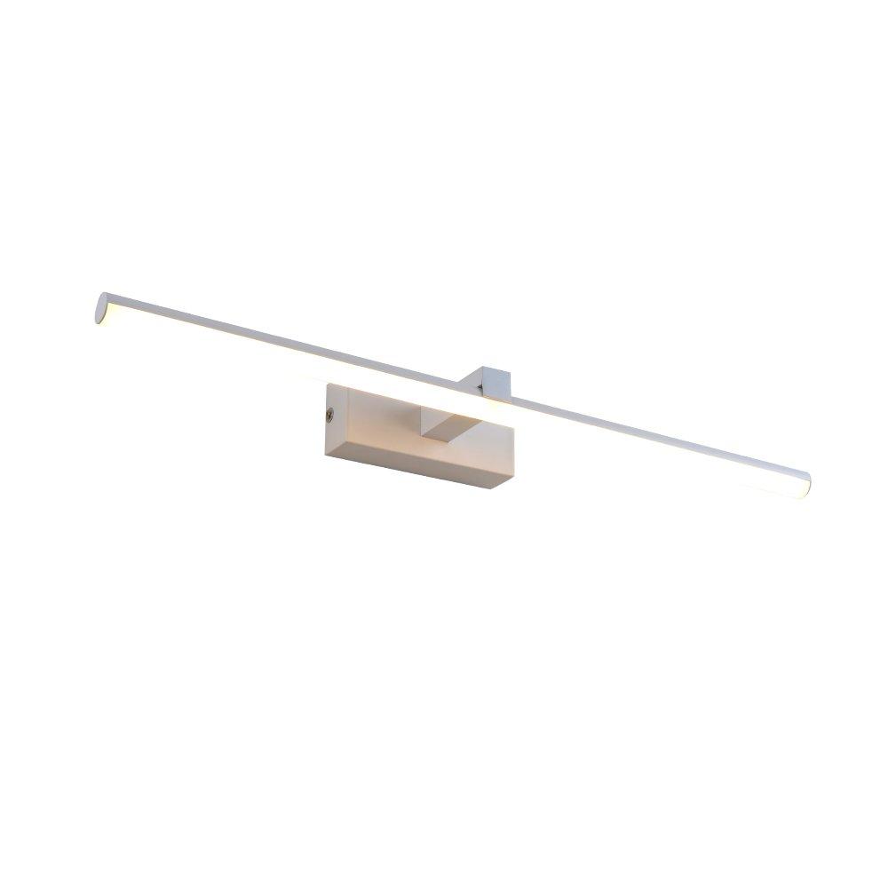 Vanity Light Bathroom Light LED Wall Light White Acrylic Round Tube Cool White 6000 K Goobi Lighting (12w)