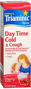 Triaminic Children's Day Time Cold & Cough Syrup Cherry 4 oz (Pack of 4)