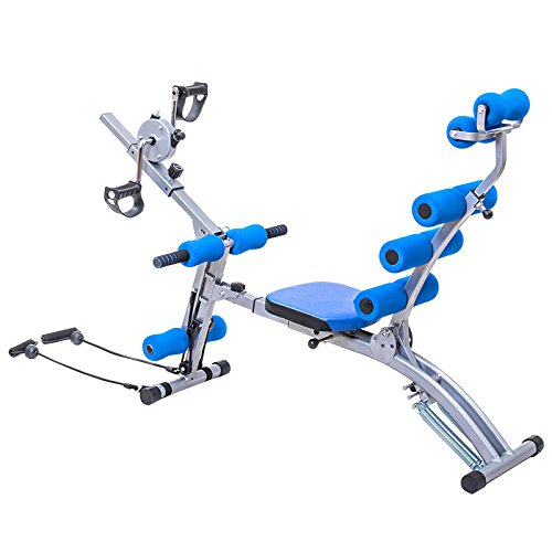 Blue& Black Iron, Foam Abdominal Trainer With Ebook by MRT SUPPLY