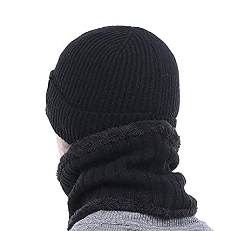 Amazon.com: HOKUGA Brand Winter Hat Knitted Hat Scarf Skullies Beanies Men Winter Beanies For Men Women Gorras Wool Bonnet Mask Male Hat Cap: Beauty