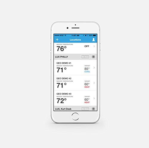 Lux Products GEO-WH Wi-Fi Thermostat, White, Works with Alexa by Lux (Image #3)