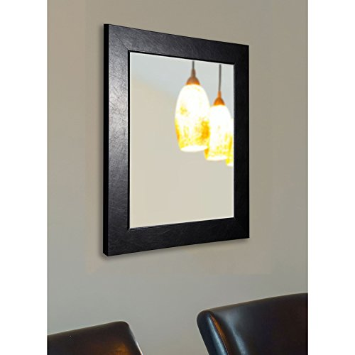 American Made Rayne Executive Black Wall Mirror, 29 x 35