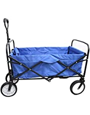 Goutime Collapsible Folding Outdoor Utility Wagon with Washable Removable Cover