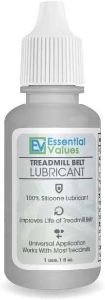 Essential Values Treadmill Belt Lubricant (1 OZ) - 100% Silicone Universal Treadmil Belt Lube