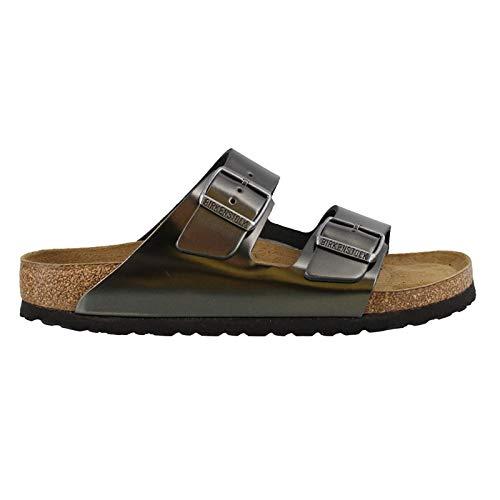 - Birkenstock Women's, Arizona Soft Footbed Sandals - Narrow Width Anthracite 38 M