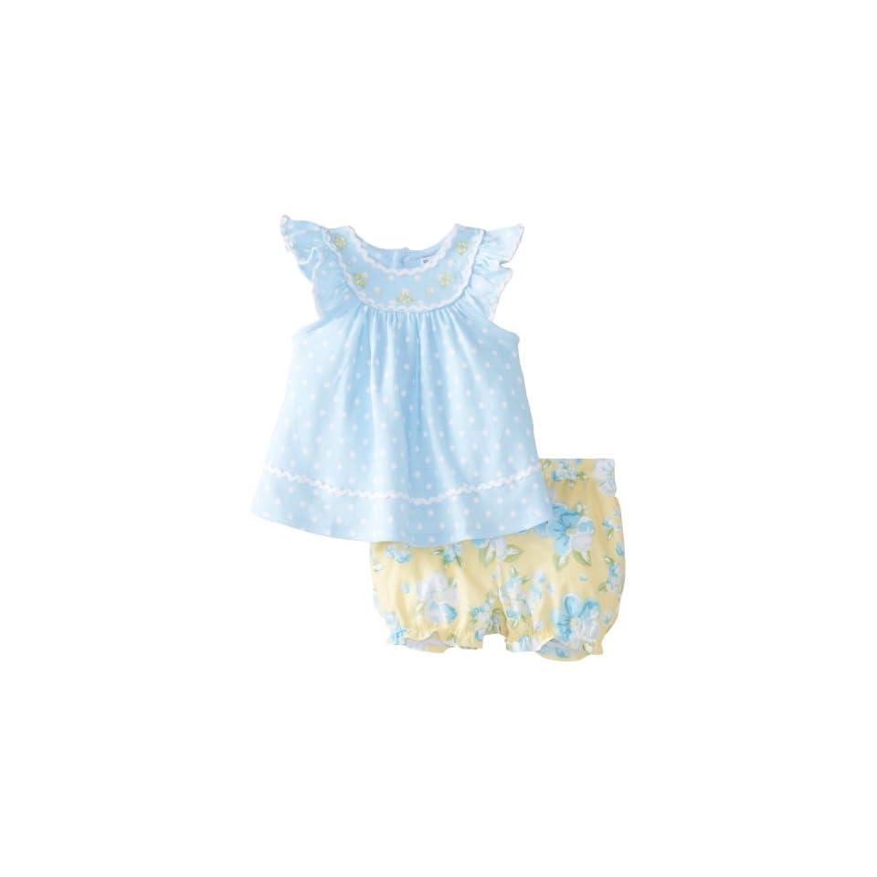 Hartstrings Baby Girls Newborn Baby Girl Cotton Dot Top