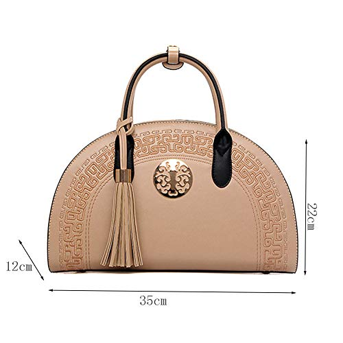 Shoulder Pocket Wind Bags functional Clutch Bags Shoulder Embroidery Bags Tote Multi National With Strap Womens Elegant Khaki Fashion qO1gwx