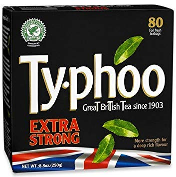 - Typhoo Tea (Bold Extra Strong 80ct Foil fresh, Pack 1)