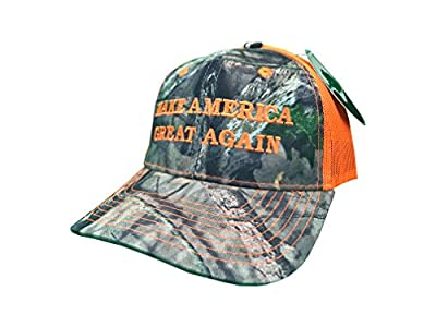 Make America Great Again Donald Trump Hat - Mossy Oak Camo / Blaze Orange