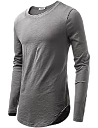 Men's Crew Neck Long Sleeve Cotton T-Shirt
