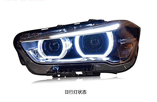 GOWE Car Styling LED Head Lamp for BMW X1 headlights 2016 for X1 LED angle eyes drl H7 hid Bi-Xenon Lens low beam Color Temperature:6000K; Wattage:35W 4