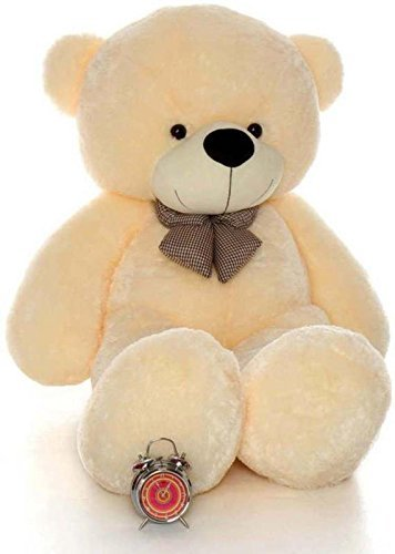 c54cabb6b39 Buy CLICK4DEAL 4 Feet Cream Teddy Bear - 122Cm Online at Low Prices in  India - Amazon.in