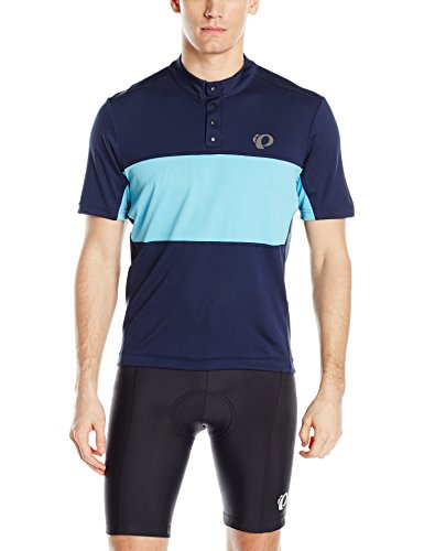 Pearl iZUMi Men's Select Tour Jersey, Eclipse Blue/Blue Mist, Medium (Ride And Tour)
