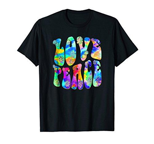 60s 70s Retro Flower Power - Love Peace 3 Hippie Fun T-Shirt