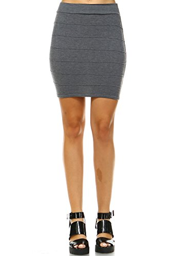 Bandage Bodycon Mini Knit Basic Stretch Short Pencil Skirt(16