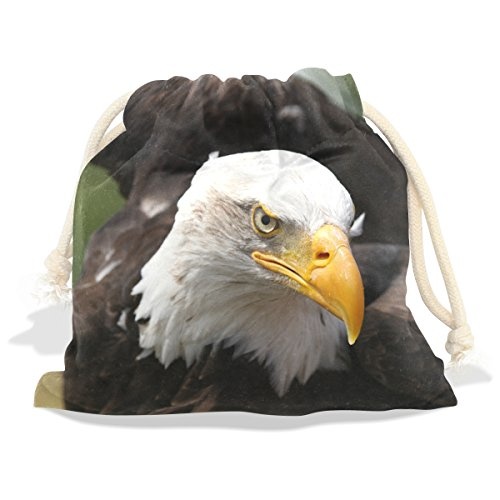 Price comparison product image American Bald Eagle Velvet Drawstring Gift Bag Wrap Present Pouches Favor for Jewelry,  Coin,  Holiday,  Birthday,  Party,  5.5X5.5 Inches