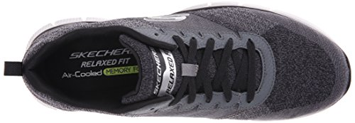 Skechers Sport Men's Equalizer 2.0 True Balance Sneaker,Grey/Black/Charcoal,14 4E US