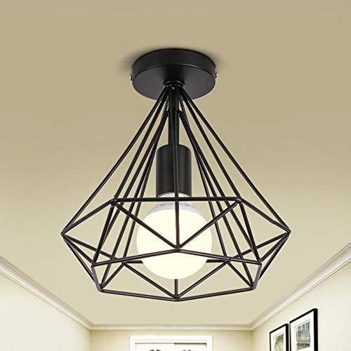 Moderna jaula de pájaros luces de techo de hierro minimalista ...