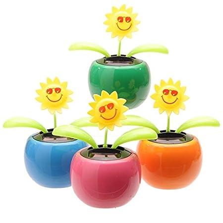 7d00f0d5591a7e Puckator Solar Powered Flip Flap - Sunflower  Amazon.co.uk  Kitchen   Home