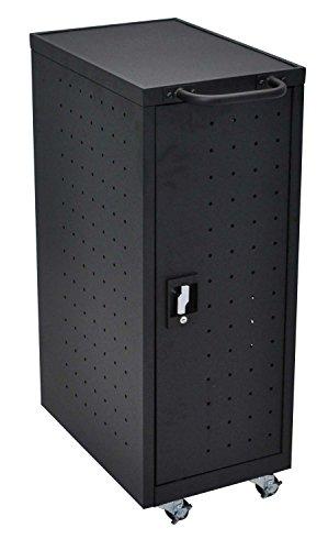 LUXOR LLTP12-B Chromebook Charging Cart Includes Electrical Outlets, Black (Brick Outlet Furniture)