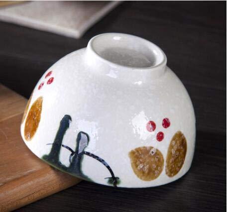 Wsxokm Japonés hogar cerámica retra del cuenco de arroz platos ...