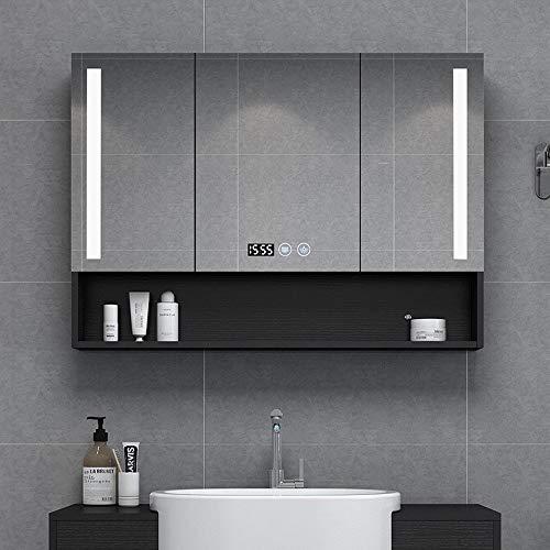 LYXDZW Bathroom Mirror Cabinet Bathroom Cabinet,LED Illuminated Bathroom Mirrors,Mirror Cabinet with Demister -