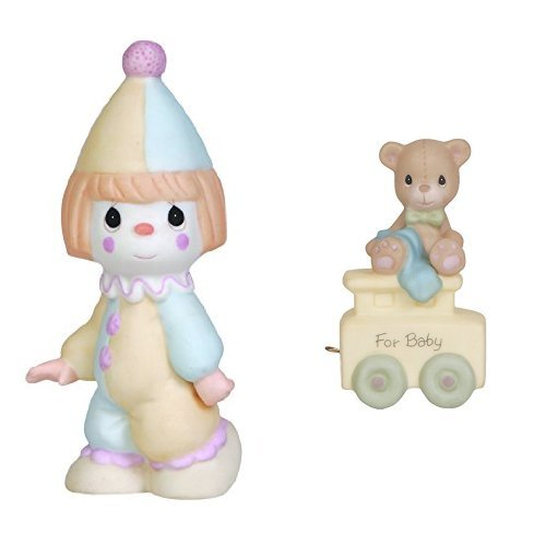 Precious Moments, Birthday Gifts, Bless The Days Of Our Youth & May Your Birthday Be Warm, Birthday Train Starter Set Bisque Porcelain Figurine