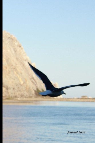 Journal Book: Morro Bay Bird and Rock, Lined Blank Journal Book, 6 x 9, 150 Pages