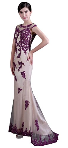 Beaded Drasawee Formal Lace Party Dress Collar Long Gowns Evening Women's 4qUwnpHxqE