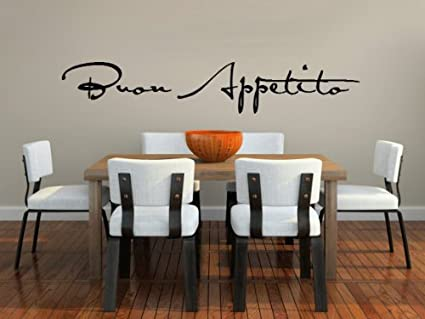 Buon Appetito Vinyl Wall Decal For Dining Room Or Kitchen