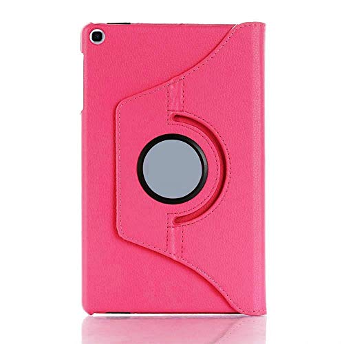 ST Creation 360 Degree Rotating Stand PU Leather Safety Flip Case Cover for Galaxy Tab A 2019 (10.1″ Inch) SM-T515 / T510 (Pink)