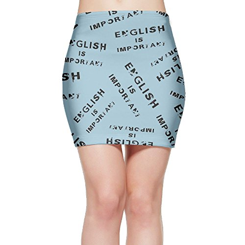SKIRTS WWE English-is-Important Women Package Hip High Waisted Mini Short Skirts by SKIRTS WWE