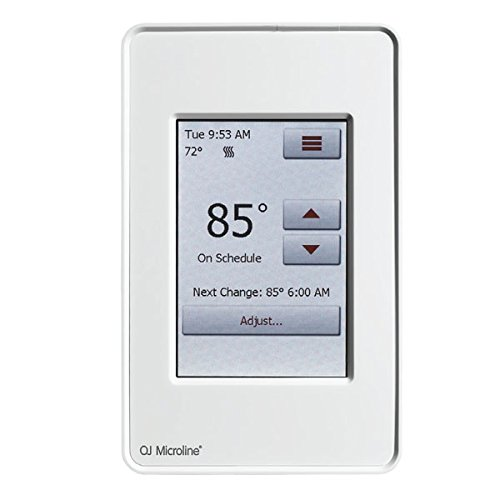 Radiant Floor Touch Screen Programmable Thermostat with GFCI, Includes Floor Sensor Model # UDG4-4999