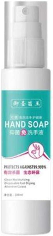 Whitegeese 100 ml Desechables desinfectante para Manos Limpiador doméstico Lavado a Mano Gratis rápido