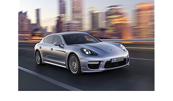 Amazon.com: Porsche Panamera (2014) Car Art Poster Print on 10 mil Archival Satin Paper Silver Front Side Speed View 16