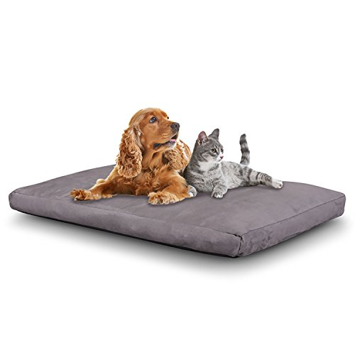 cr dog bed memory foam pet bed waterproof removable cover extra large 46 x 28 gray. Black Bedroom Furniture Sets. Home Design Ideas