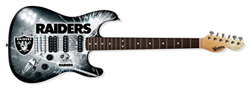 Woodrow Guitar by The Sports Vault NFL Oakland Raiders Northender Electric Guitar