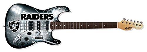 Art Wood Series Acoustic Guitar - NFL Oakland Raiders NorthEnder Guitar, 39-Inch x 13-Inch, Maple