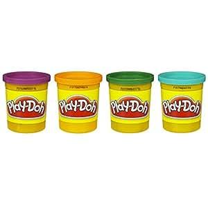 Play-Doh 4-Pack of Colors 20oz - Purple, Orange, Green & Teal