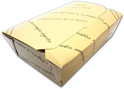 Estuche portaalimentos plegable tamaño mediano de cartón alimentario genérico caja para frutas y para alimentos de llevar. 60 unidades: Amazon.es: Hogar