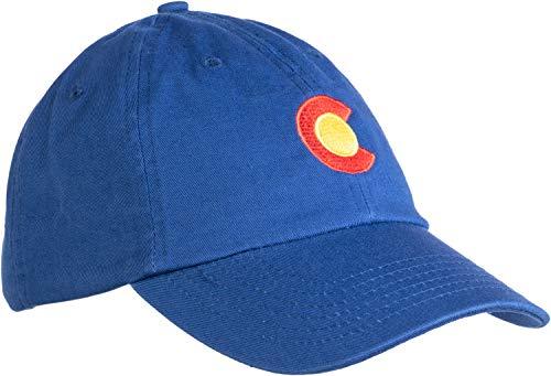 State Flag Flag Cap - Ann Arbor T-shirt Co. Colorado State Flag Low Profile Baseball Hat | Coloradan Golf Cap Royal Blue