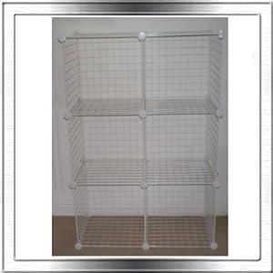 White Wire Cube Storage System Amazon Co Uk Garden